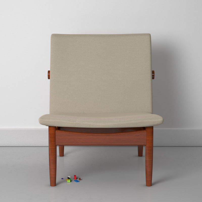 finn juhl 137 easy chair 3d model