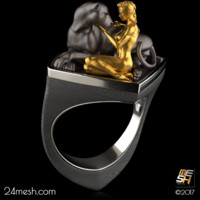 cocktail ring amazon 3d model