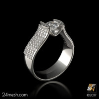 3d ring cognac -