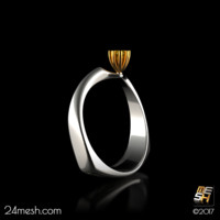 3d engagement ring canary -