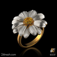 cocktail ring bellis - 3ds