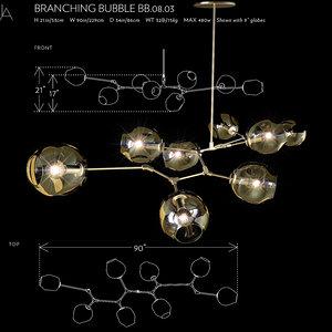3d model branching bubble
