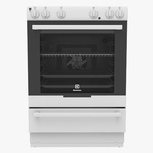 electrolux stove 3d model