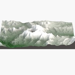 3d model mount everest landscape terrain