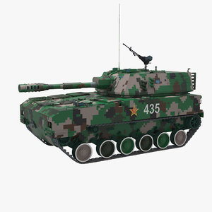 3d plz-07 self-propelled china model