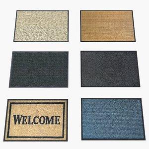 3d model door mats
