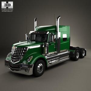 international lonestar tractor 3d 3ds