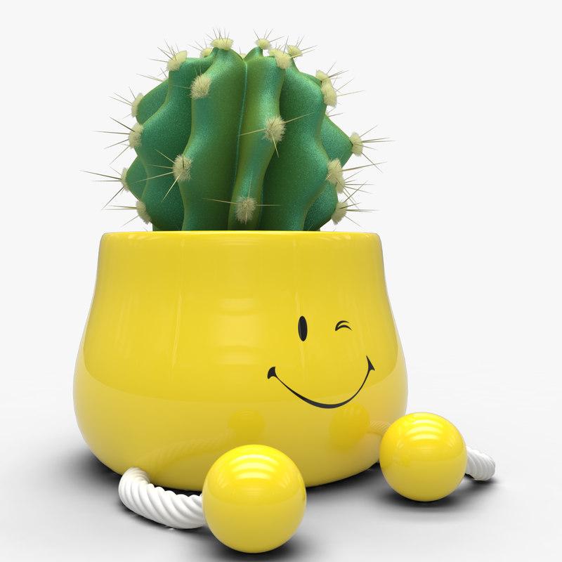 pot cactus 3d max