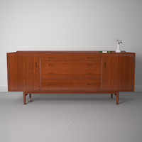 3d model arne vodder os25 sideboard