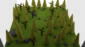 3d blender forest model
