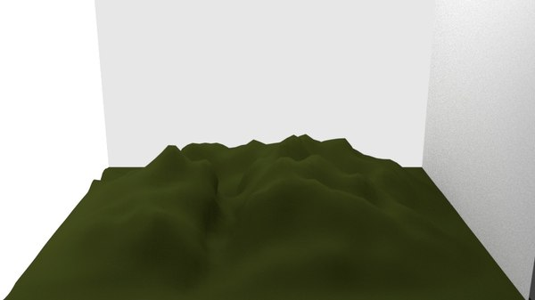 3d blender mountain terrain model