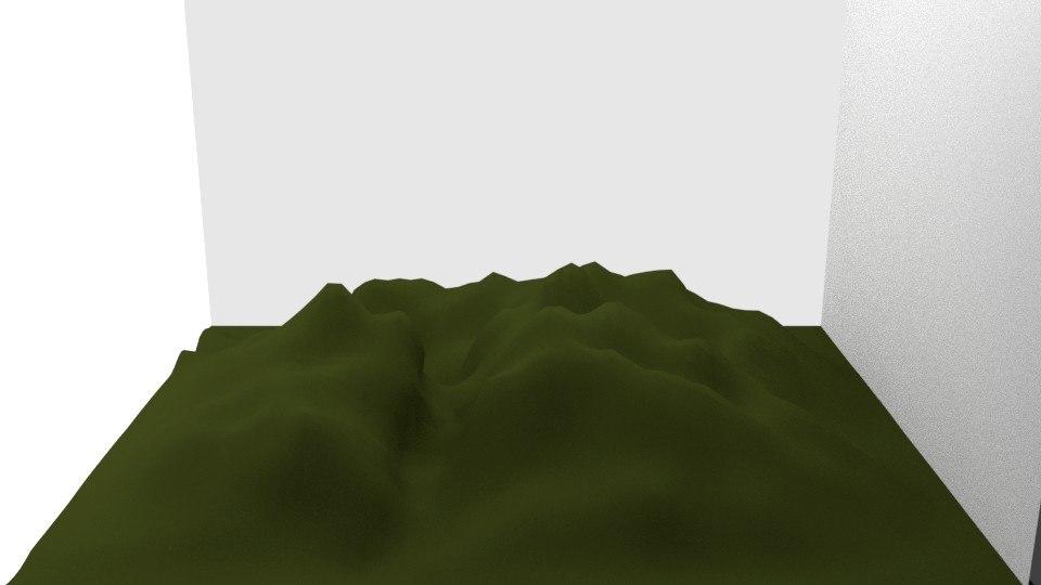 3d blender mountain terrain model