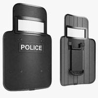 police shield 3d 3ds