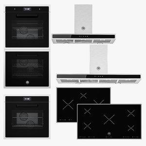 bertazzoni cooktops oven hood 3d model