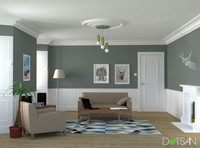 3d model simple ceiling rose