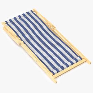 3d folded beach chair