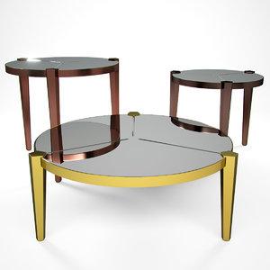 3d model regina table fendi casa