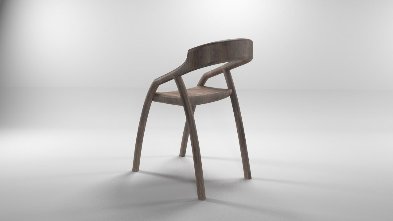 3d modern chair table
