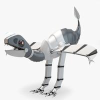 low-poly robot dinosaur 3d max