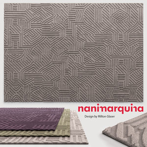 rug african pattern 3d max