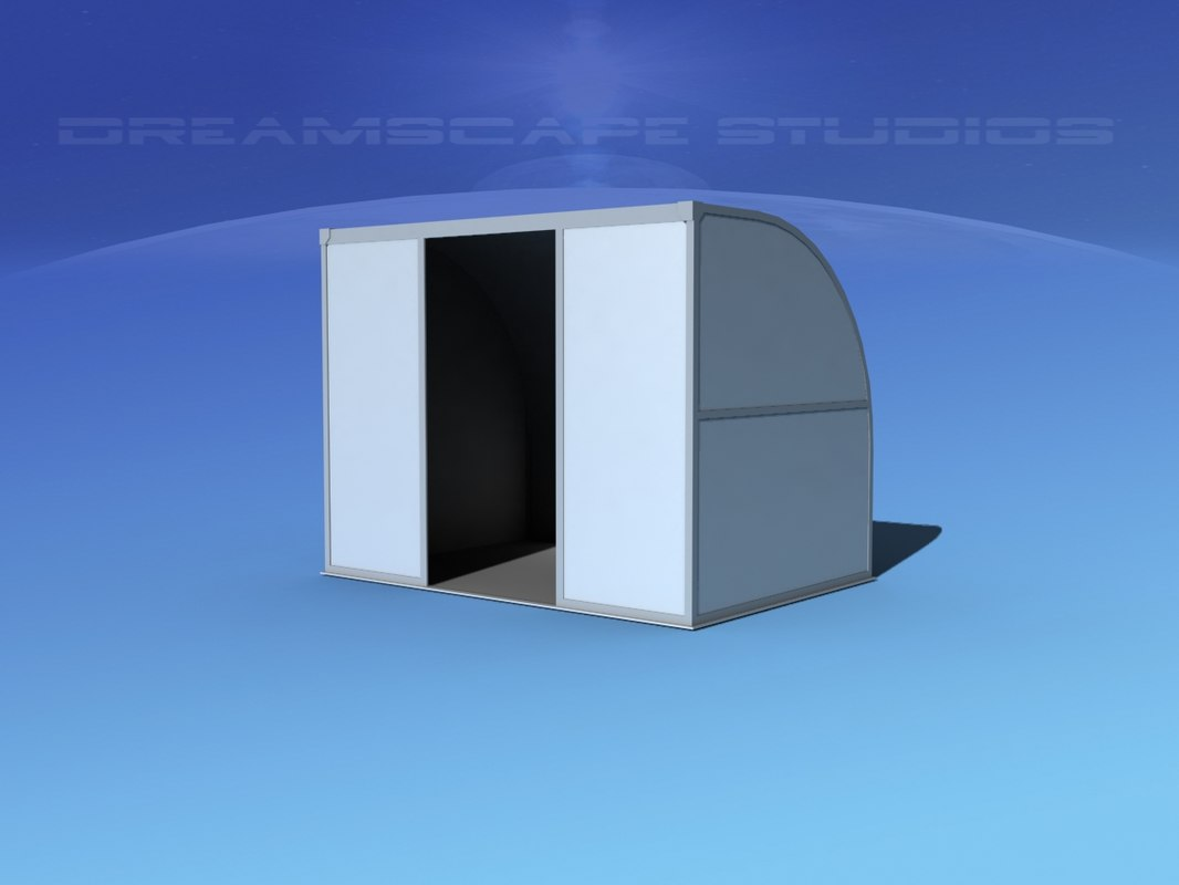 airport cargo a1n container 3d max