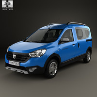 3d dacia dokker stepway model