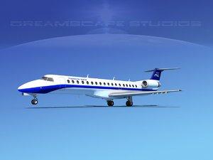 3d embraer erj 145 charter model