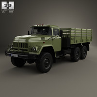 3d zil 131 flatbed