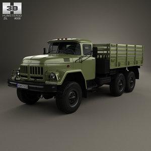 zil 131 flatbed 3d model