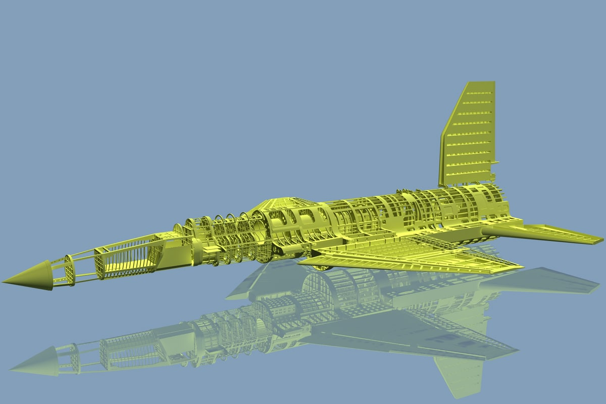 3d model aircraft structure
