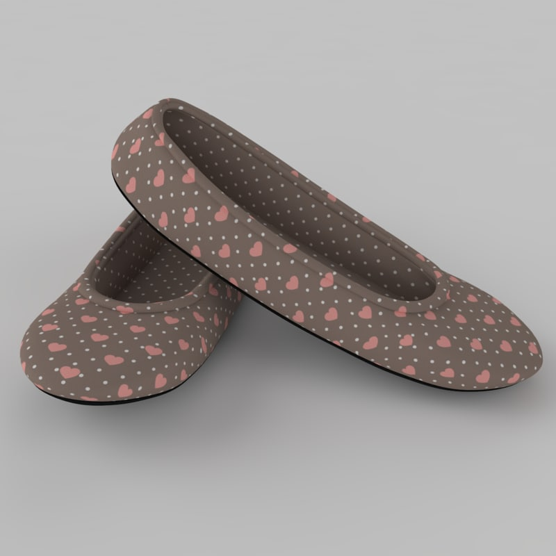3d model pair slippers