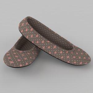3d model pair slippers