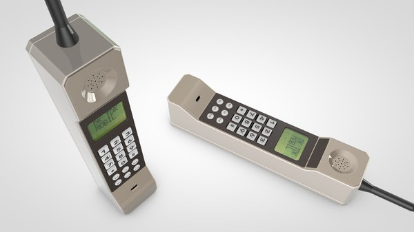 3d model of brick cell phone