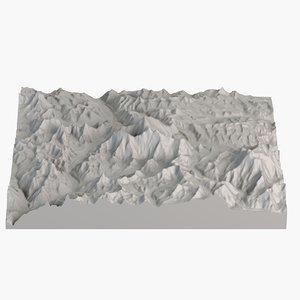 3d landscape mount everest model
