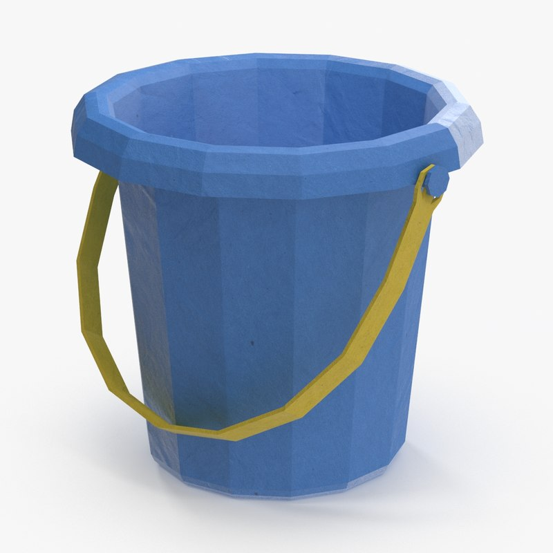 sand-toy---bucket- low-poly 3d max