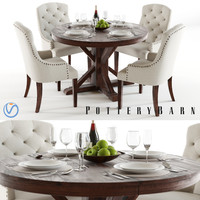 3d model pottery barn benchwright lorraine