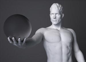 3d male sculpture model