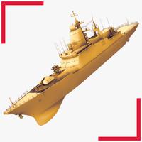 steregushchy class russian corvette 3d max
