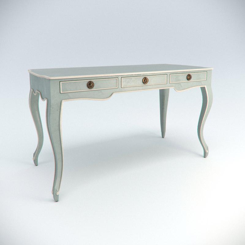 3d currey company salon writing desk model