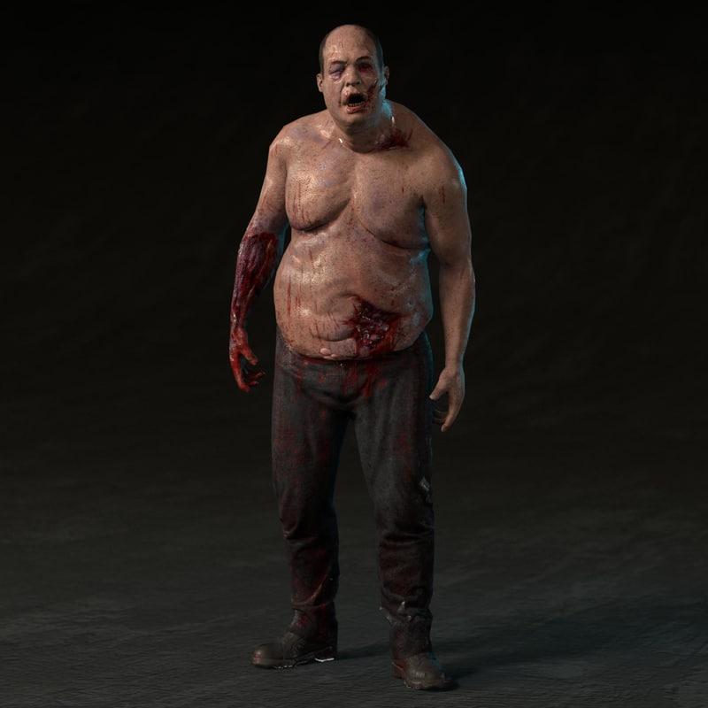 fat zombie 3d fbx