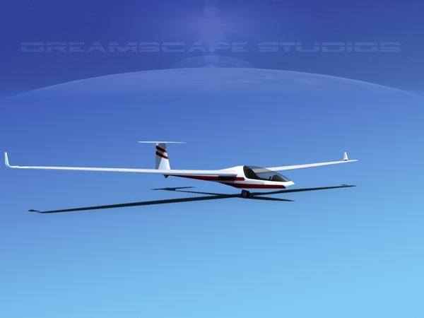 dg-300 glider 3d dxf
