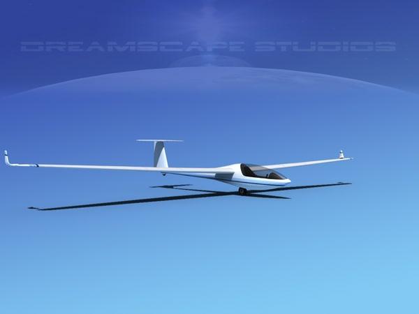 dg-300 glider 3d 3ds