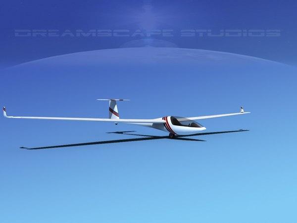 dg-300 glider 3d model