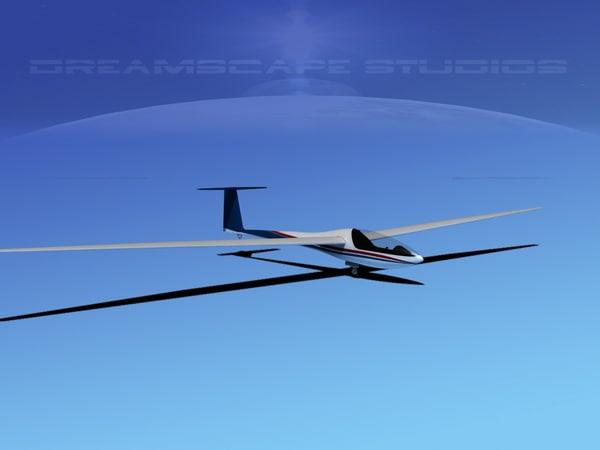 3d 3ds dg-200 sailplane 17