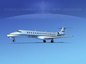 3d model of embraer erj