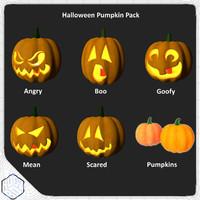 3d halloween pumpkin pack