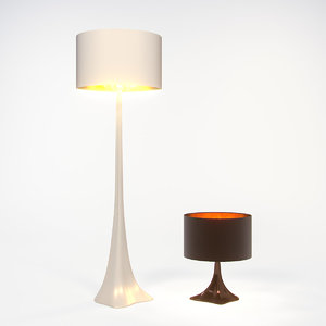 3d model young tree lamp london