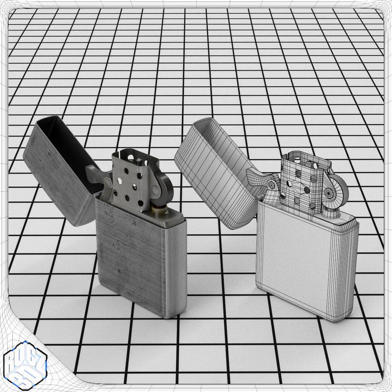 3d windproof lighter model