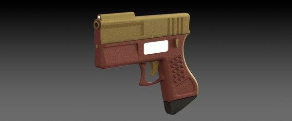 3d concept conceptual gun