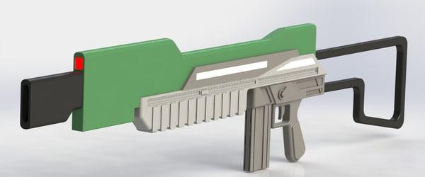 3d model concept conceptual gun